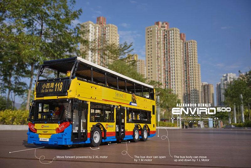 Moc Rc Motorized City Bus Alexander Dennis Enviro 500