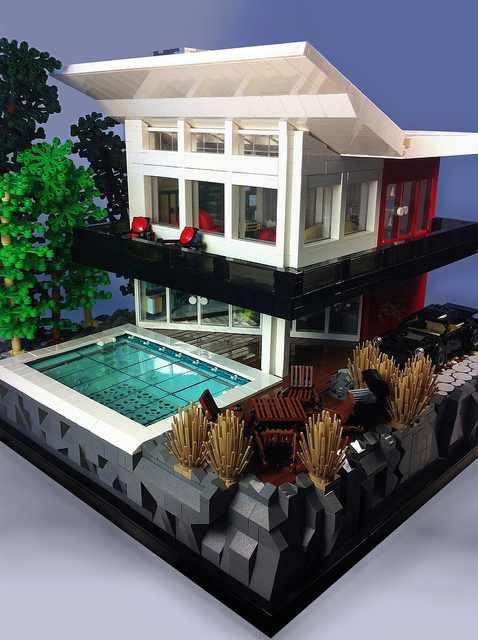 Moc 10 beautiful houses for Modernes lego haus