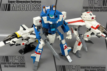 MOC – Macross VF-1 Valkyrie + Fast pack / Armored parts