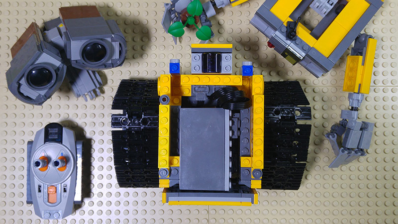 MOC – LEGO Wall-E RC Motorized (instruction)