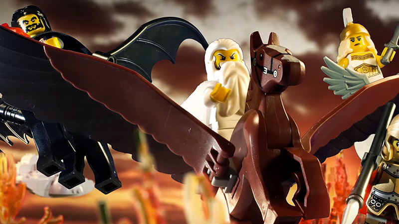LEGO Zeus Vs Thor Stop Motion
