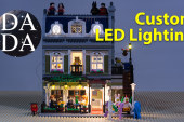 MOC – Custom LED Lighting: LEGO 10243 Parisian Restaurant