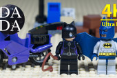 Lego 6858 Catwoman Catcycle City Chase (4K UHD) Speed build + Stop Motion