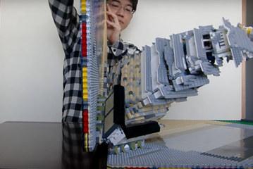 MOC – LEGO Pop-up Himeji Castle (dai-tenshu) レゴで飛び出る姫路城(大天守)