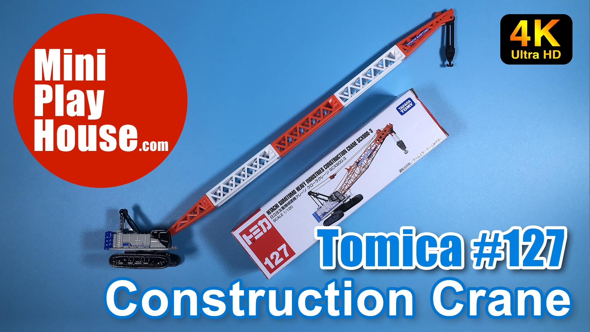 Tomica No.127 Hitachi Sumitomo Heavy Industries Construction Crane SCX900-3 (4K UHD)