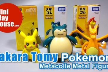 Takara Tomy Metacolle Metal Figure Pokemon Pikachu Kabigon Lizardon Diecast Toy– unboxing (4K UHD)
