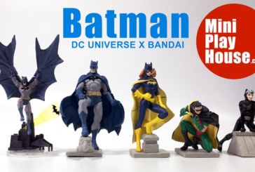 Batman, Batgirl, Robin, Catwoman Figure Bandai x DC Comics Toy – unboxing