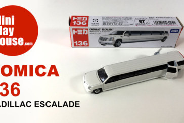 Takara Tomy Tomica #136 Cadillac Escalade – Die-cast toy car unboxing