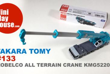 Takara Tomy Tomica #133 KOBELCO ALL TERRAIN CRANE KMG5220 – unboxing