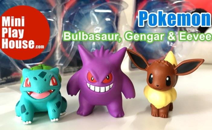 Takara Tomy Pokemon Bulbasaur, Gengar, Eevee – unboxing